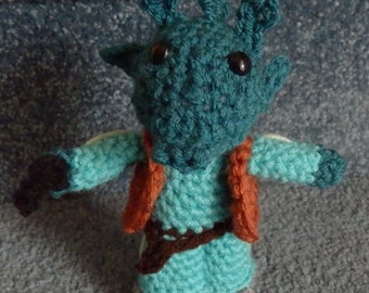 Made to order, Hand crocheted Star Wars like Doll Greedo Amigurumi Doll Alien