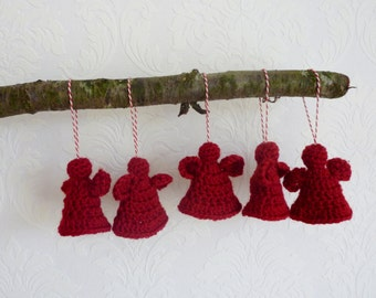 Crochet angels christmas ornaments