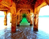 Under the Pier in Grand Case, St Martin Photograph 8x10