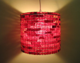 Shipping Worldwide - Lighting Chandelier Red Pendant Light Hanging Handmade Lampada Coffee Filter Art