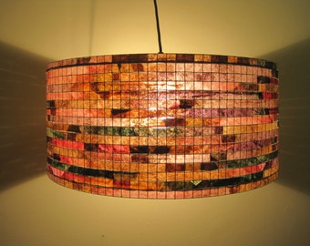 Chandelier Lighting Colorful Lamp Shade Lampada Coffee Filter Art