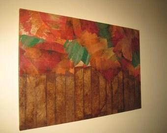 Art Canvas COFFEE FILTER ART - Wall Hanging Wall Art
