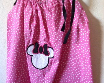 Pillowcase Dress w/Pink Minnie Mouse design, Size 24 Month/2T