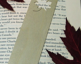 Bookmark, Wooden with Maple Leaf
