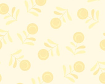 90029 Designer  Essential Flora quilt or craft fabric by Free Spirit, Yellow color - 1 yard
