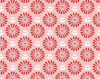 04372  - Riley Blake Twice as Nice collection Cotton C3521 pink  fabric- 1 yard