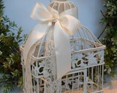 Wedding Birdcage / Card Box / Wedding Decoration / Wishes Holder / Home Decor / Decorative Birdcage / Shabby Wedding / Shabby Birdcage