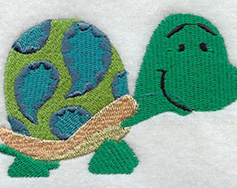 Paisley Turtle Embroidered Flour Sack Hand/Dish Towel