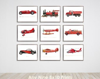 Collection of Nine 8x10 vintage prints of your choice