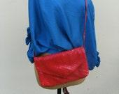 Vintage Red La Regale  HandBag
