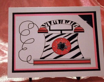Zebra Phone Card for Any Occasion  20130204
