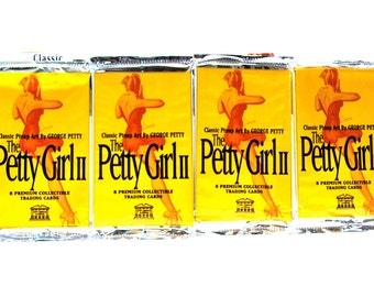 4 Petty Girl Pin Up Trading Card Packs by 21st Century Archives
