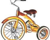 Tricycle Bicycle Trike Bike  - Vintage Art Illustration - Digital Image - Instant Download