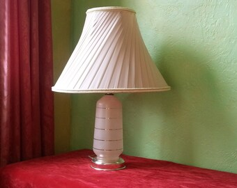 50% OFF - Mad Men Table Lamp Pair, Mod Pink and Gold