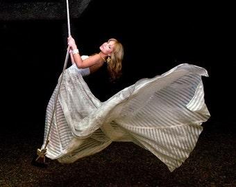 Moonlight Serenade Couture Silk Chiffon Wedding Gown
