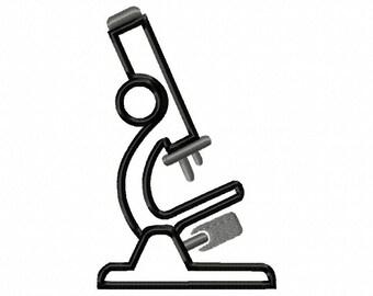 Microscope-2- Applique - Machine Embroidery Design - 7 sizes
