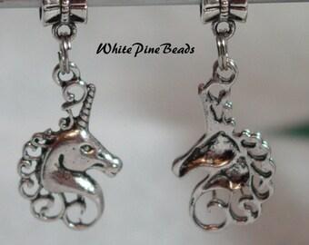 Unicorn Head Charm Dangle Bead For European Charm Bracelets