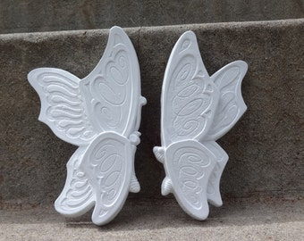 White Butterfly Set Vintage Wall Hangings