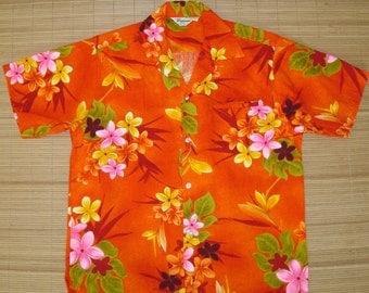 Mens Vintage 70s Oahu Sugar Mill Plantation Hawaiian Shirt - L - The Hana Shirt Co