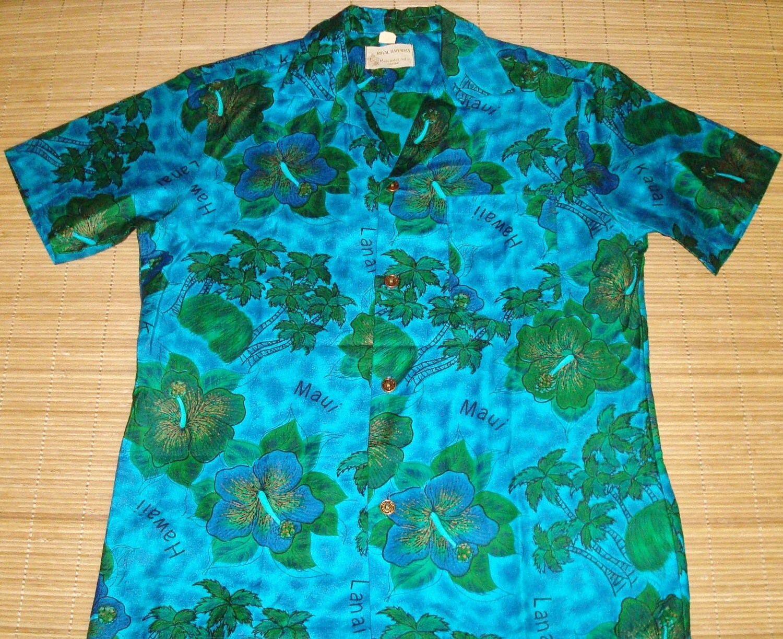 Mens vintage 60s royal hawaiian mod floral hawaiian for The hawaiian shirt company