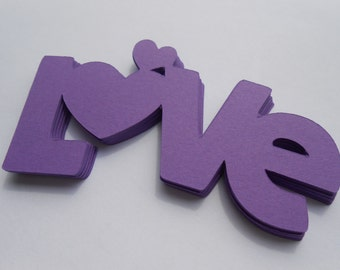 50 LOVE Words. 3.25 inch. CHOOSE Your COLORS. Weddings, Favors, Wishing Tree, Confetti. Custom Orders Welcome.