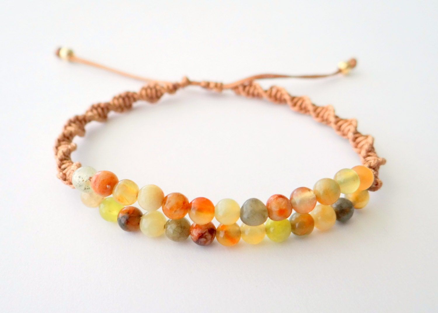 macrame beaded bracelets beaded macrame bracelet with semiprecious gold metal 4940