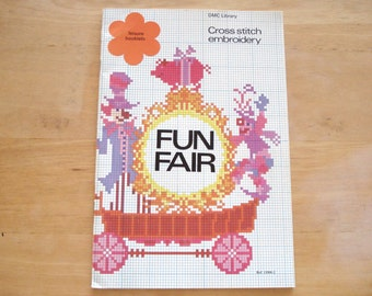 DMC LIBRARY Leisure Booklets Needle Point Cross Stitch Embroidery Pattern Book Fun Fair Issue 1006-2.