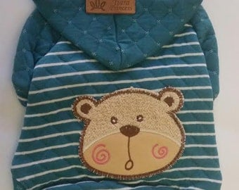 BLUE Sweatshirt Hoodie - for Small dog (size SMALL)