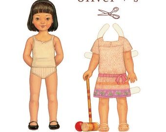 Croquet Dress Pattern by Oliver & S, size 6 month - 4