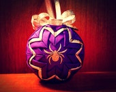 SALE!!! Along Came A Spider....Halloween Quilted Ornament