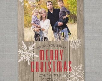 Christmas Card - Rustic Wood