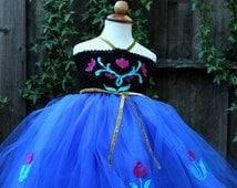 Frozen Anna Dress - anna birthday dress  - Frozen Anna Dress anna blue dress  - Anna tutu dress - Frozen birthday - Anna birthday party