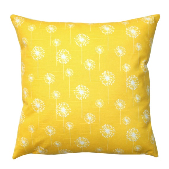 CLEARANCE Decorative Pillow Corn Yellow by ModernalityHomeDecor