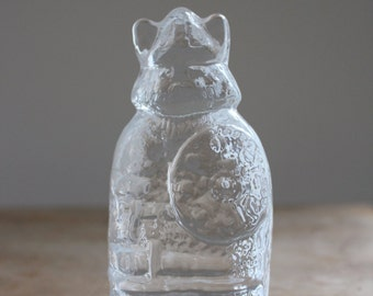 Swedish Lindshammar glass viking figurine / paperweight