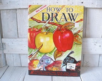 Vintage drawing book art instruction Walter Foster 1960s- free shipping US