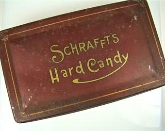 Schraffts Hard Candy Tin