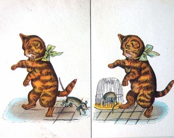 Kroll's Stereoscopic Pictures for the Use of Squint-Eyed Children, chromolithograph color cards