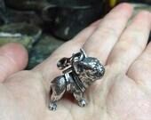 YaciKopo handmade french bulldog necklace sterling silver