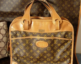 Rare and Vintage LOUIS VUITTON Tote Carry On Suitcase Luggage Weekender Travel Suitcase Accessory
