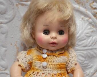1977 Horsman Doll Vinyl Crochet Dress 11 Inch