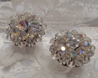 Clip Earrings Aurora Borealis