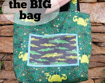 The Big Bag tote bag pattern PDF