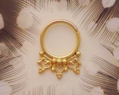 Anila. Beleaf Jewelry 14k Yellow Gold septum ring, elven body jewelry, gold body jewelry tribal septum ring tribal jewelry, burningman
