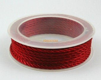 1 Roll 5 Yards 3mm Red Bracelet Cord Twisted Knit Cord (CORD07)