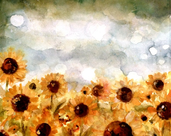 sunflower filed art print