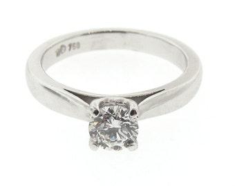 18ct White Gold 0.50ct White Diamond '4 Claw' Engagement Ring