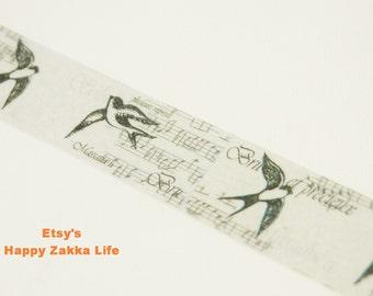Swallow - Japanese Washi Masking Tape -  18mm Wide - 5.5 yards
