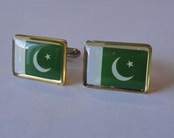 Pakistani Flag Cufflinks