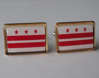 Washington DC Flag Cufflinks