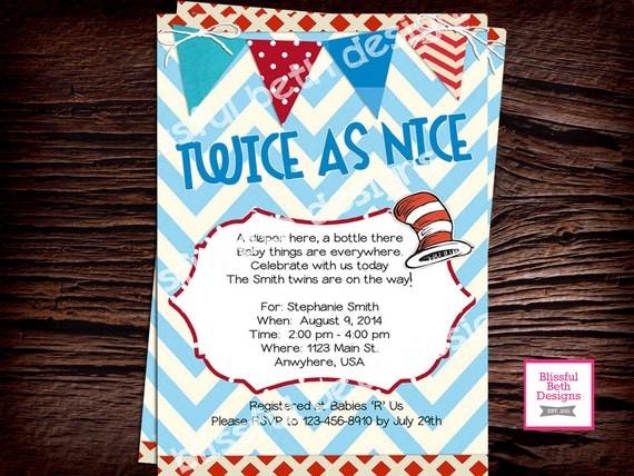 Twice As Nice Baby Shower Invite